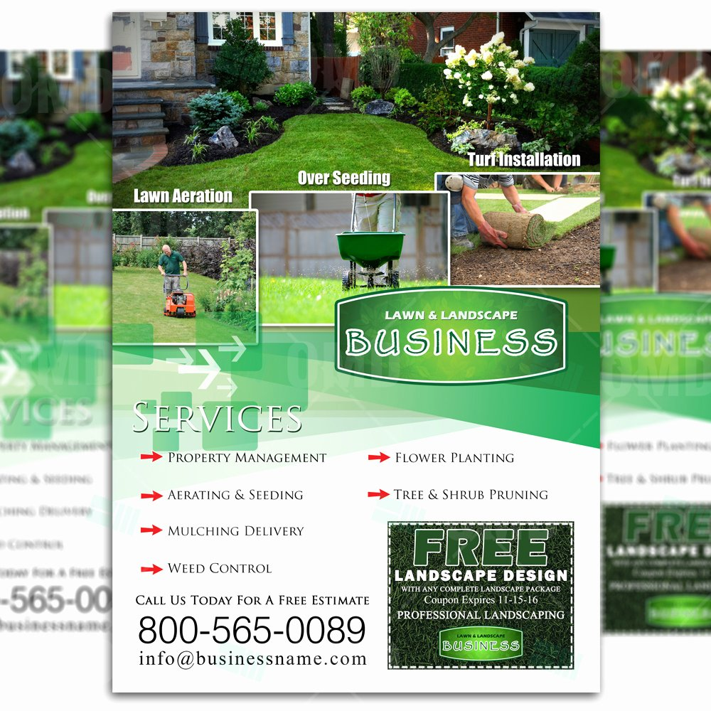 Lawn Care Advertising Flyers Beautiful Lawn Care Flyer Design 3 – the Lawn Market