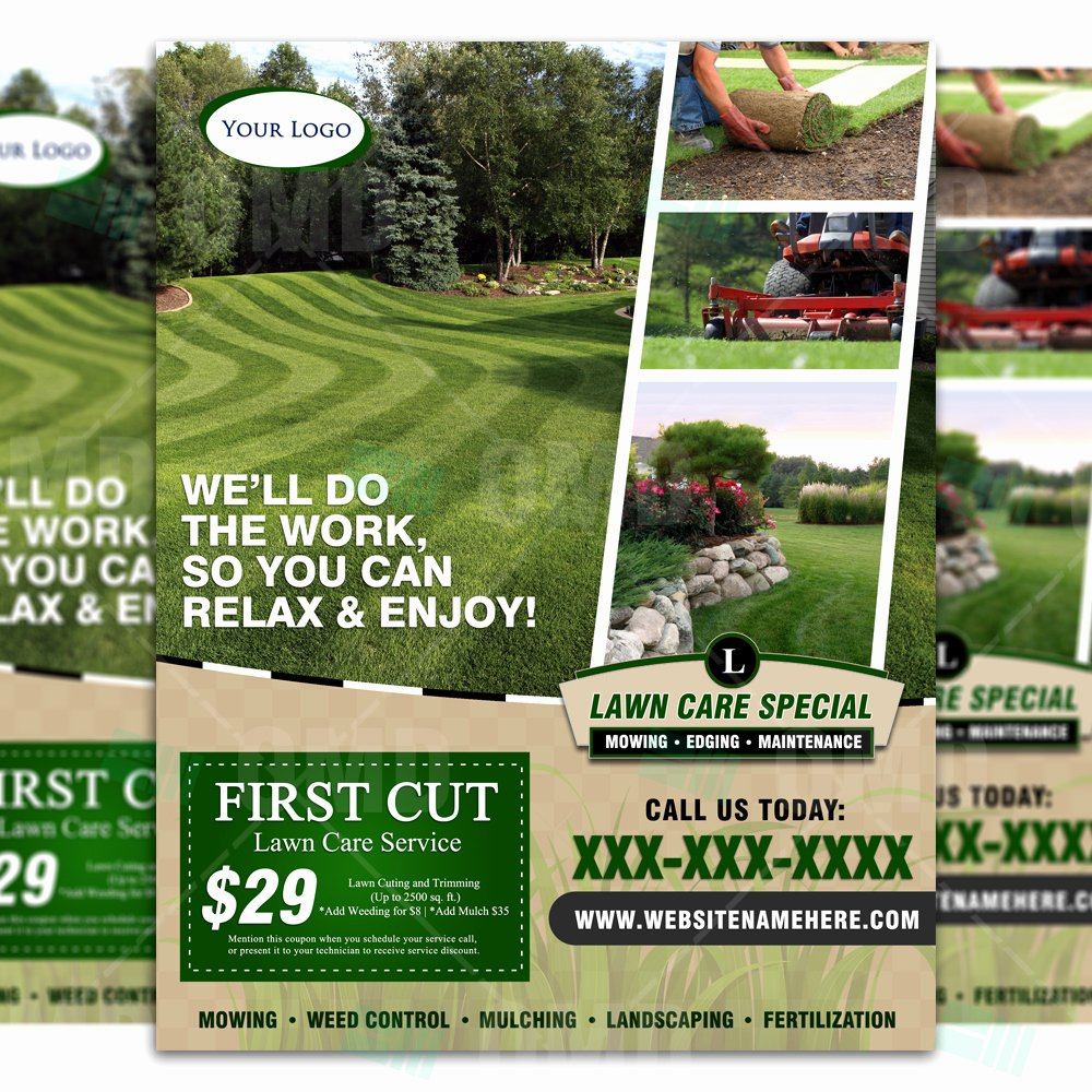 Lawn Care Advertising Flyers Beautiful Lawn Care Flyer Design 4 – the Lawn Market