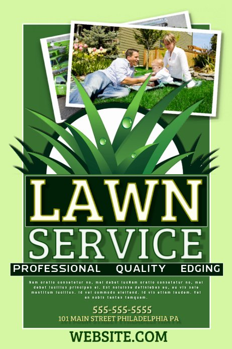 Lawn Care Advertising Flyers Beautiful Lawn Service Template