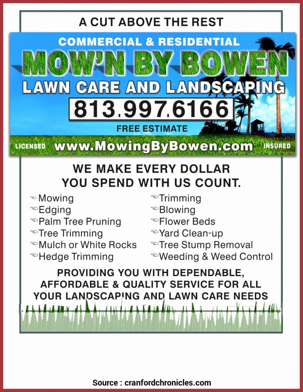 Lawn Care Advertising Flyers Best Of Special Mowing Business Flyers Flyers Lawn Mowing Business Beautiful Free Lawn Care Flyer