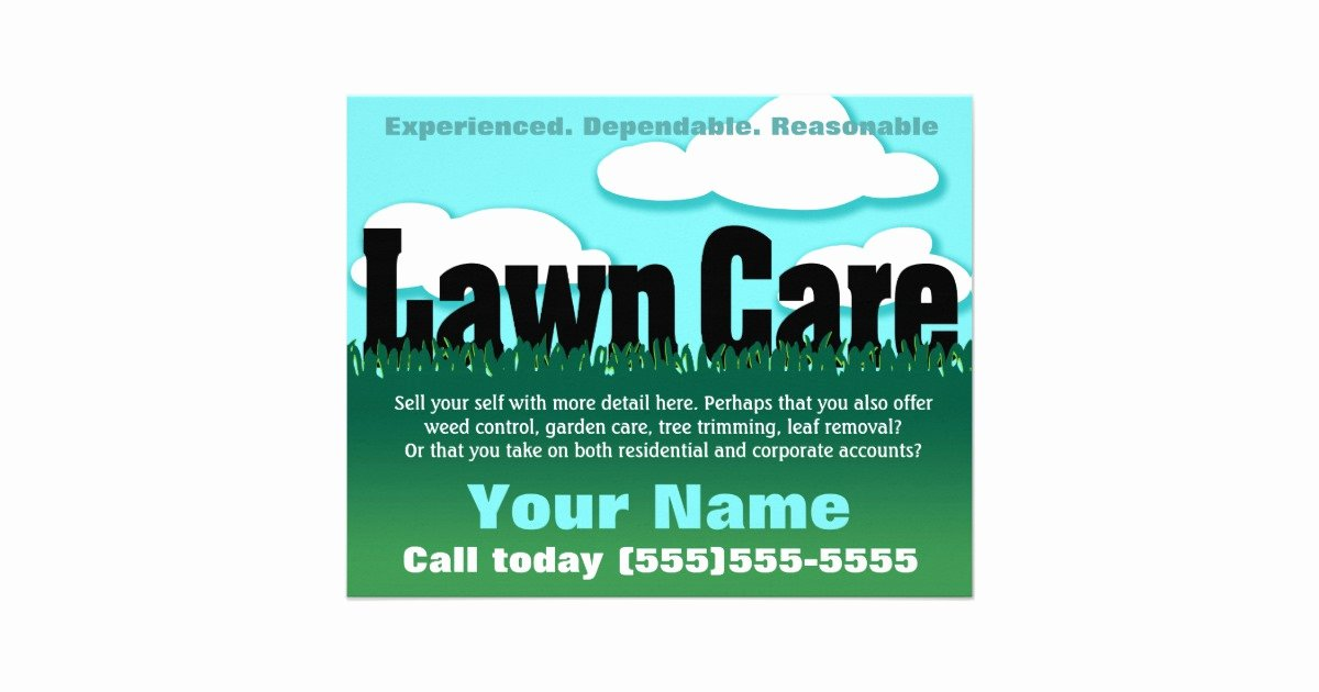 Lawn Care Advertising Flyers Fresh Lawn Care Landscaping Mowing Marketing Flyer