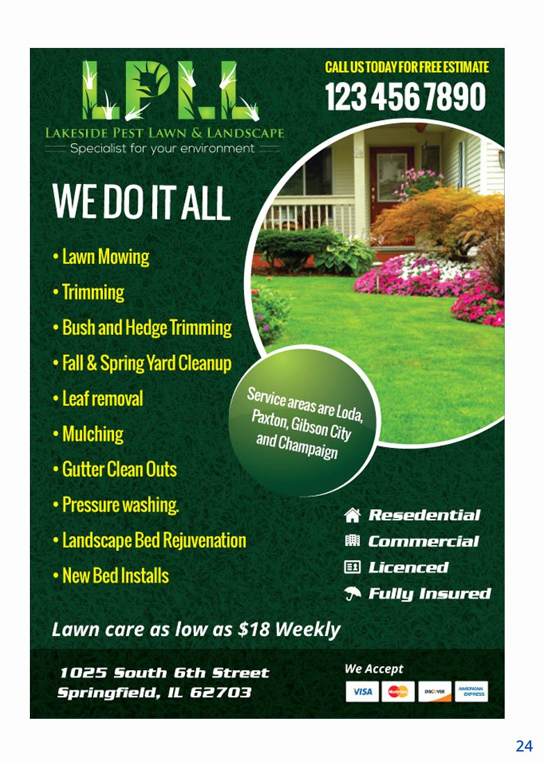 Lawn Care Advertising Flyers Inspirational Colorful Professional Lawn Care Flyer Design for Lakeside Pest Lawn & Landscape by