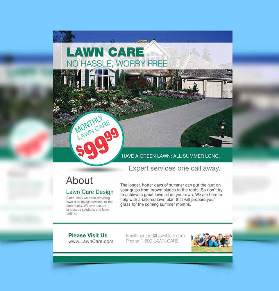 Lawn Care Advertising Flyers Lovely Flyer Design for Advertising Your Services and Products