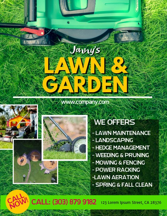 lawn service poster template
