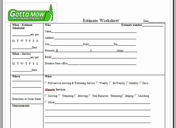 Lawn Care Estimate form Luxury Lawn Care Service Quote Template Image Quotes at Relatably