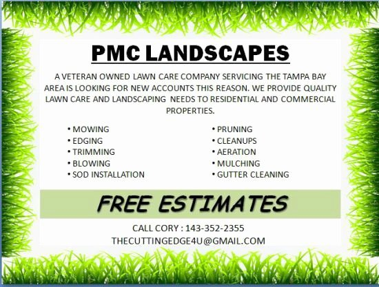 Lawn Care Flyer Ideas Awesome 10 Best Landscaping Flyer Templates Images On Pinterest