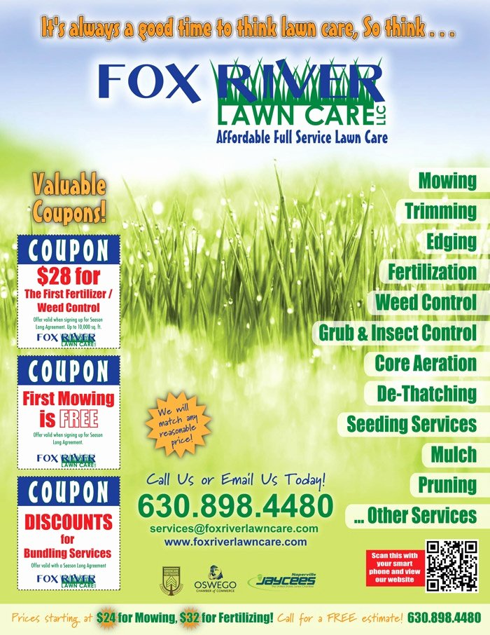 Lawn Care Flyer Ideas Awesome Use Of A Qr Code On This Lawn Care Flyer is A Smart Idea Lawn Care Business Tips