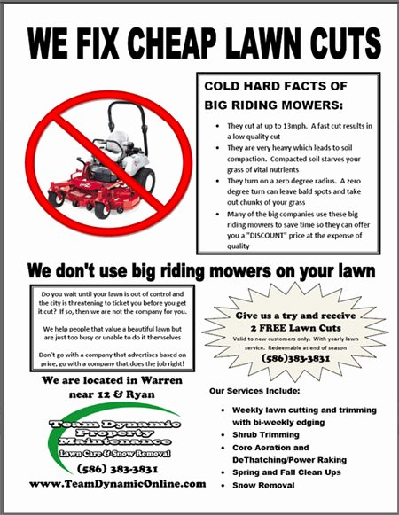 Lawn Care Flyer Ideas Beautiful Lawn Care Flyer