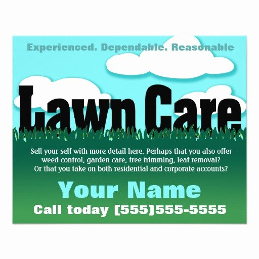 Lawn Care Flyer Ideas Beautiful Lawn Care Landscaping Mowing Marketing Flyer
