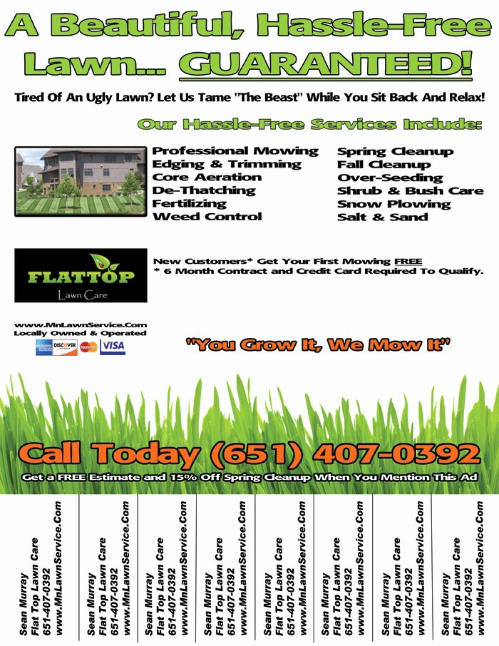 Lawn Care Flyer Ideas Elegant Lawn Care Business Flyer