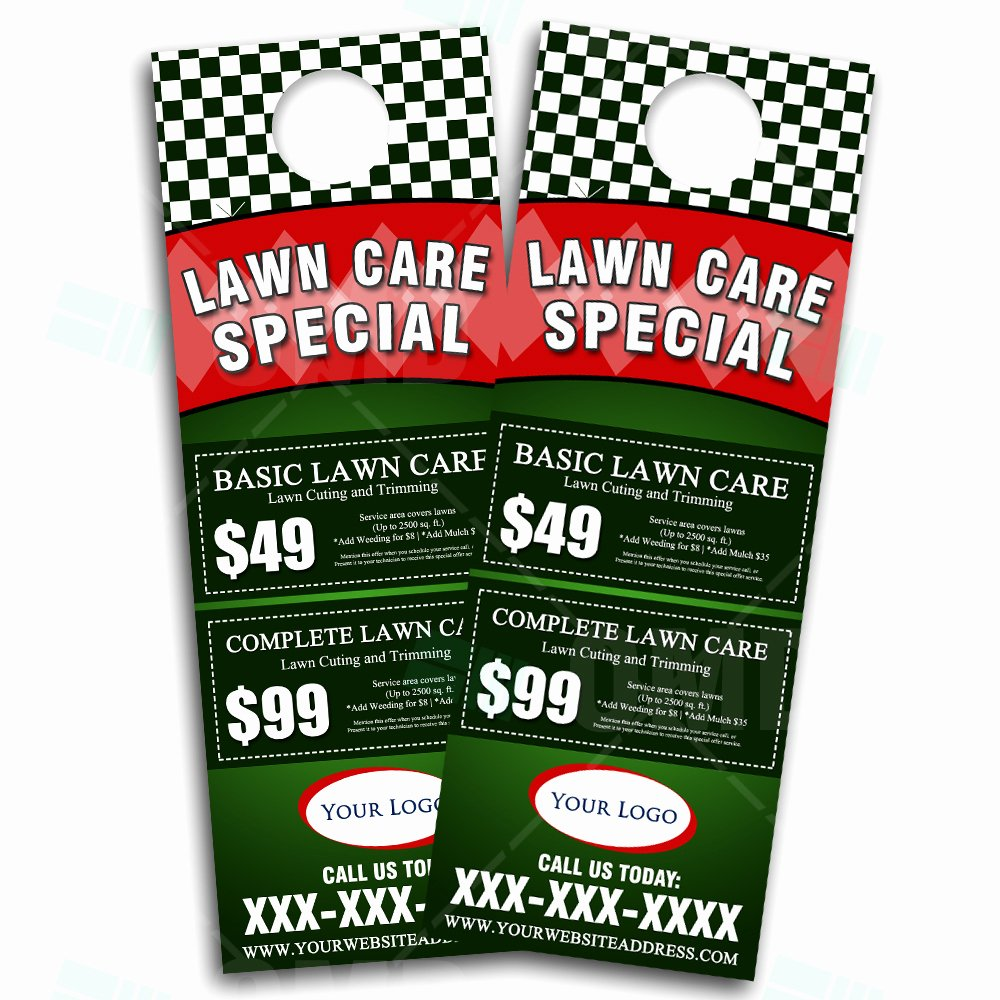 Lawn Care Flyer Ideas Fresh Lawn Care Door Hanger Design 3 – the Lawn Market
