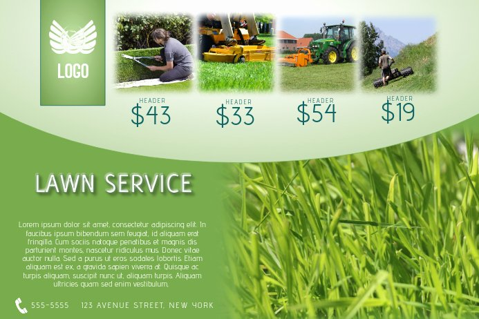 Lawn Care Flyer Ideas New Lawn Service Flyer Template Landscape Green