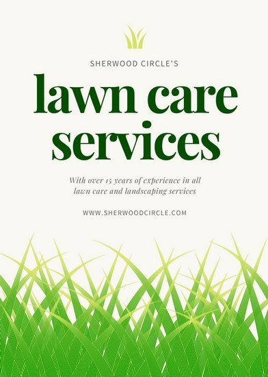 Lawn Care Flyer Template Awesome Green Garden Services Landscaping Flyer Templates by Canva