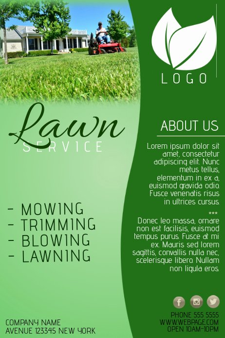 Lawn Care Flyer Template Beautiful Lawn Service Pany Flyer Template