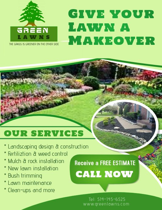 landscaping services poster template