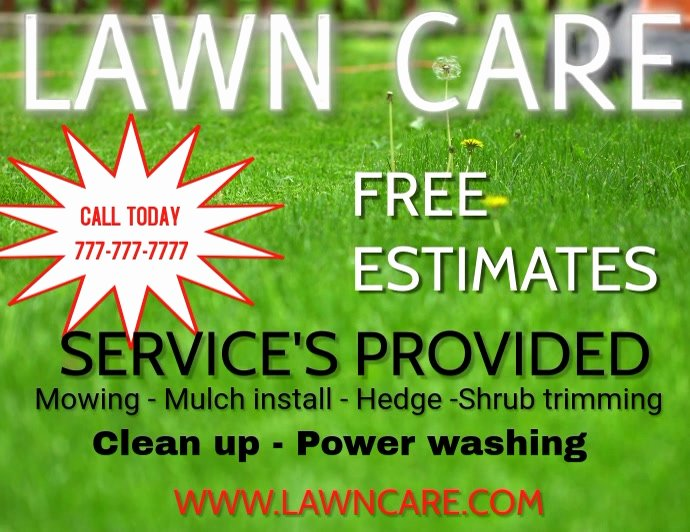 Lawn Care Flyer Template Free Beautiful Lawn Care Landscaping Grass Cutting Small Business Flyers Template