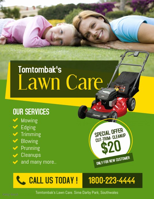 Lawn Care Flyer Template Free Fresh tomtombak S Lawn Care Services Template
