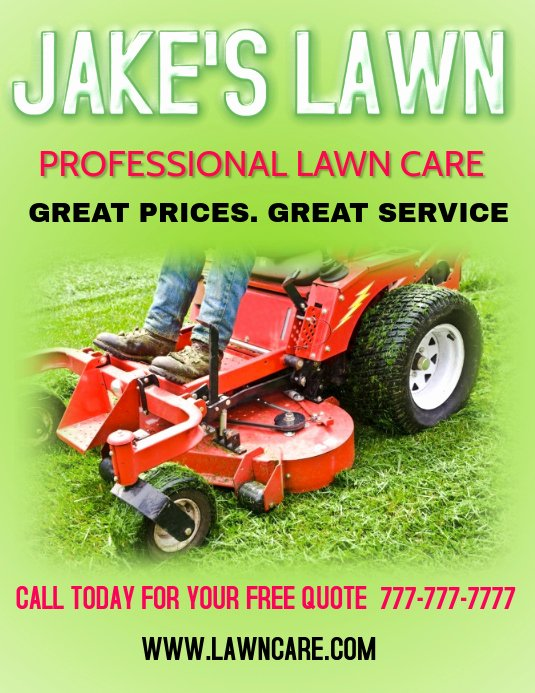 Lawn Care Flyer Template Free Inspirational Lawn Care Landscaping Grass Cutting Small Business Flyers Template
