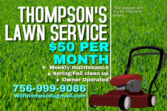 Lawn Care Flyer Template Free Inspirational Lawn Mowing Poster Template