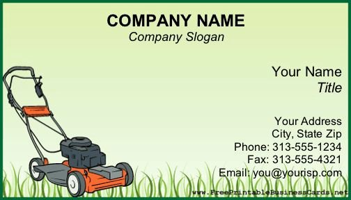 Lawn Care Flyer Template Free New A Power Lawnmower Sits On Uncut Grass On This Green Background Printable Business Card This