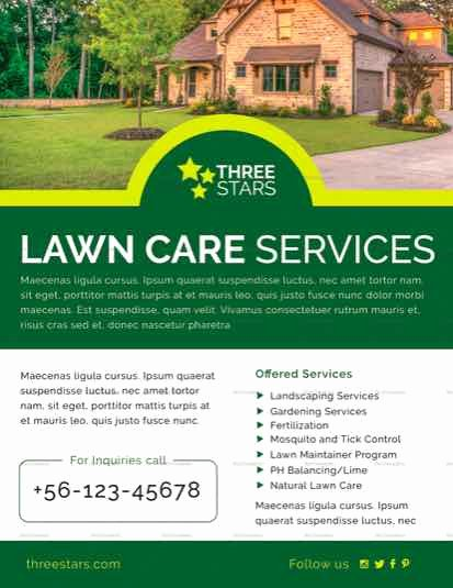 Lawn Care Flyer Template Free New Lawn Care Flyer Templates