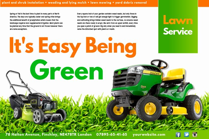 Lawn Care Flyer Template Free Unique Create Lawn Care Business Flyers It S Easy