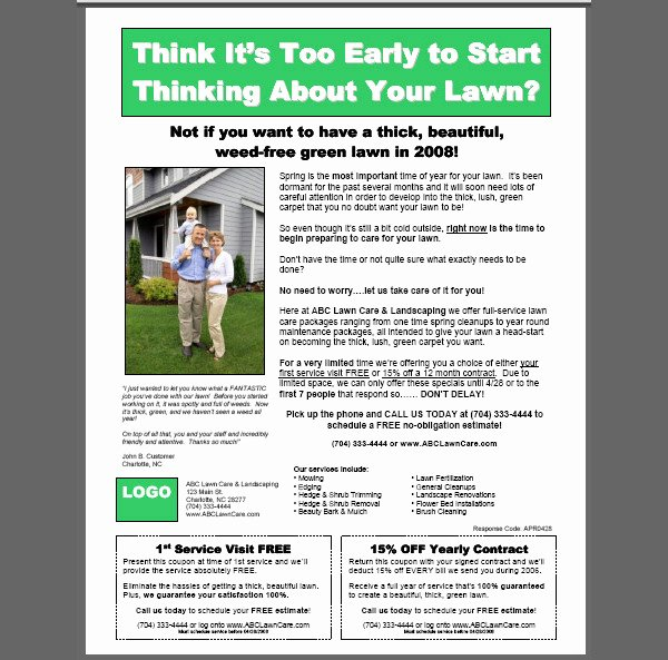 Lawn Care Flyer Template New 20 Lawn Care Flyers Psd Vector Eps Jpg Download