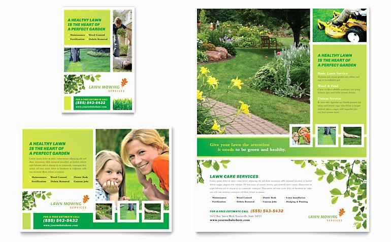 Lawn Care Flyers Template Awesome Lawn Mowing Service Flyer & Ad Template Word & Publisher