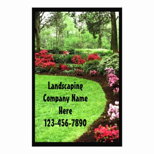 Lawn Care Flyers Template Fresh Rich Landscape Lawn Care Business Flyer