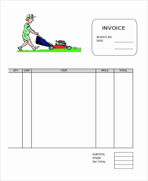 Lawn Care Invoice Template Unique Free 9 Lawn Care Invoice Samples & Templates In Pdf Excel