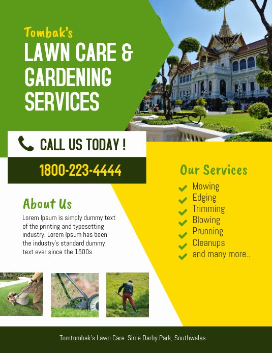 Lawn Care Service Flyers Awesome Lawn & Landscaping Service Flyer Template