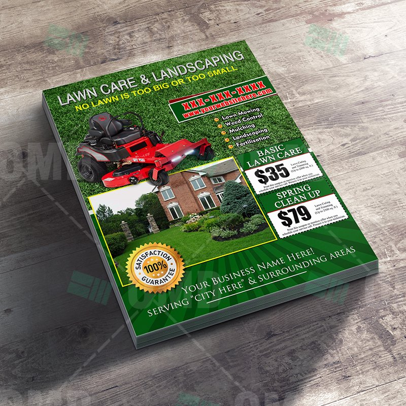 Lawn Care Service Flyers Awesome Lawn Care Flyer Design 8 – the Lawn Market