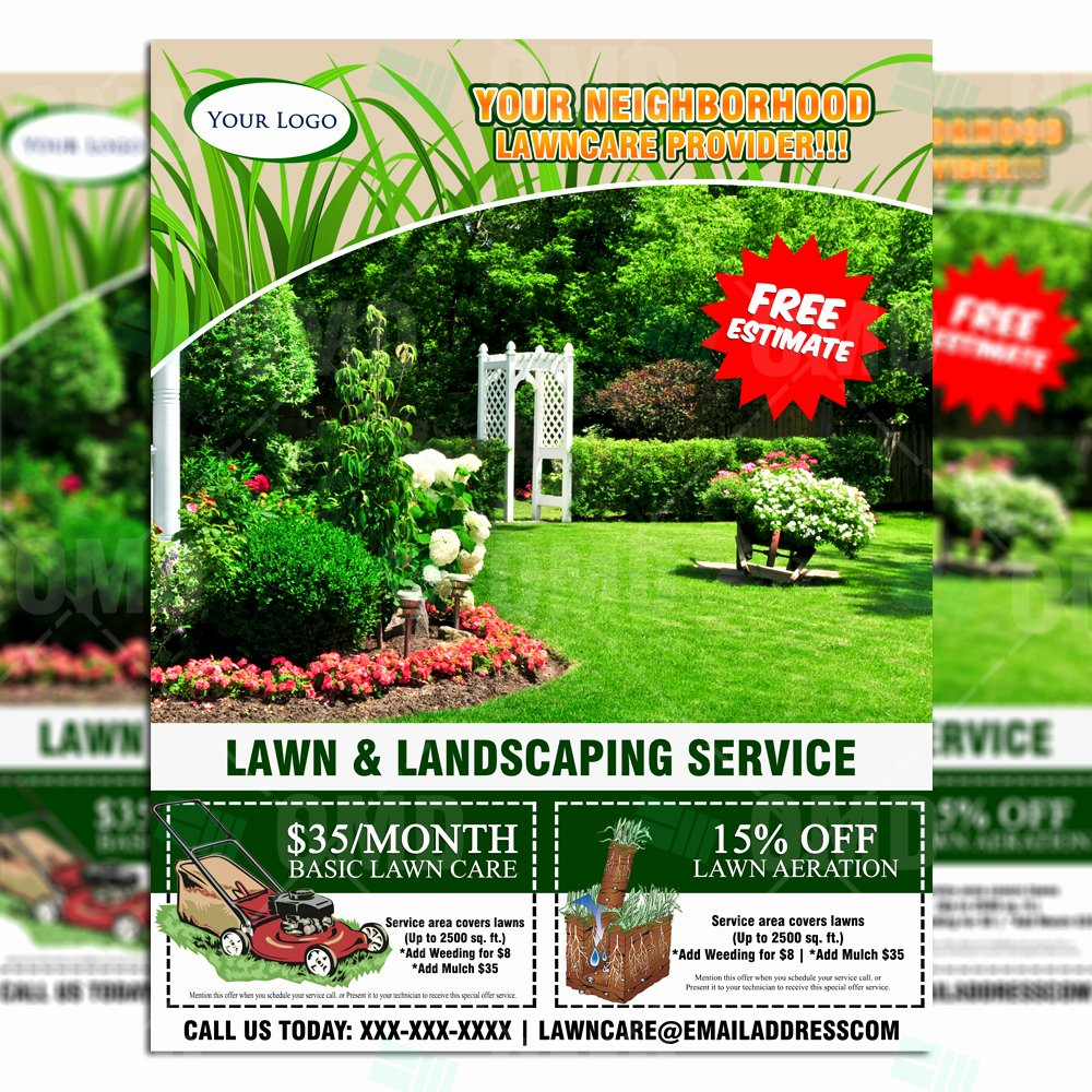 Lawn Care Service Flyers Best Of Lawn Care Flyer Design 6 – the Lawn Market