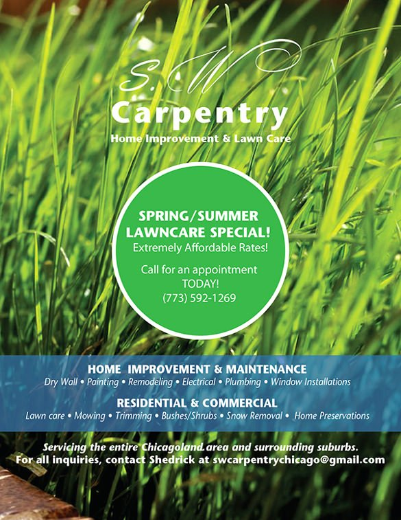 Lawn Care Service Flyers Inspirational 29 Lawn Care Flyers Psd Ai Vector Eps