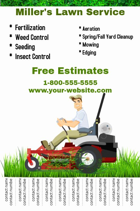 Lawn Care Service Flyers Inspirational Lawn Service Template