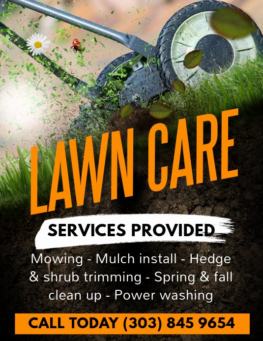 Lawn Mower Flyer Template Beautiful Lawn Care Services Flyer Template