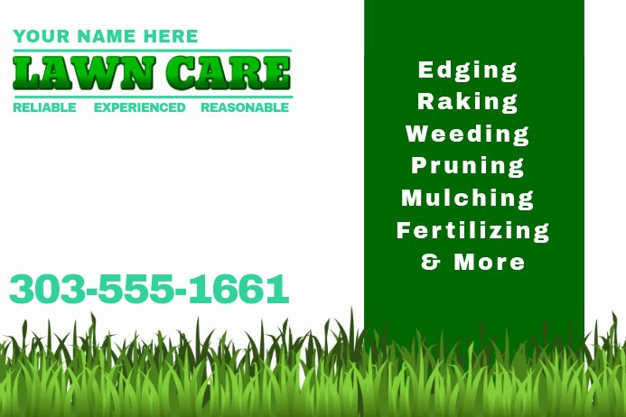 Lawn Mower Flyer Template Beautiful Lawn Care Template
