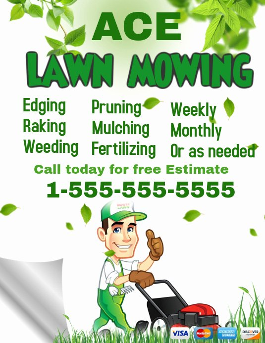 Lawn Mower Flyer Template Beautiful Lawn Service Template
