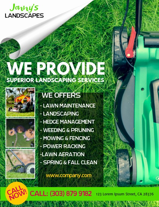 Lawn Mower Flyer Template Elegant Lawn Service Flyer Template