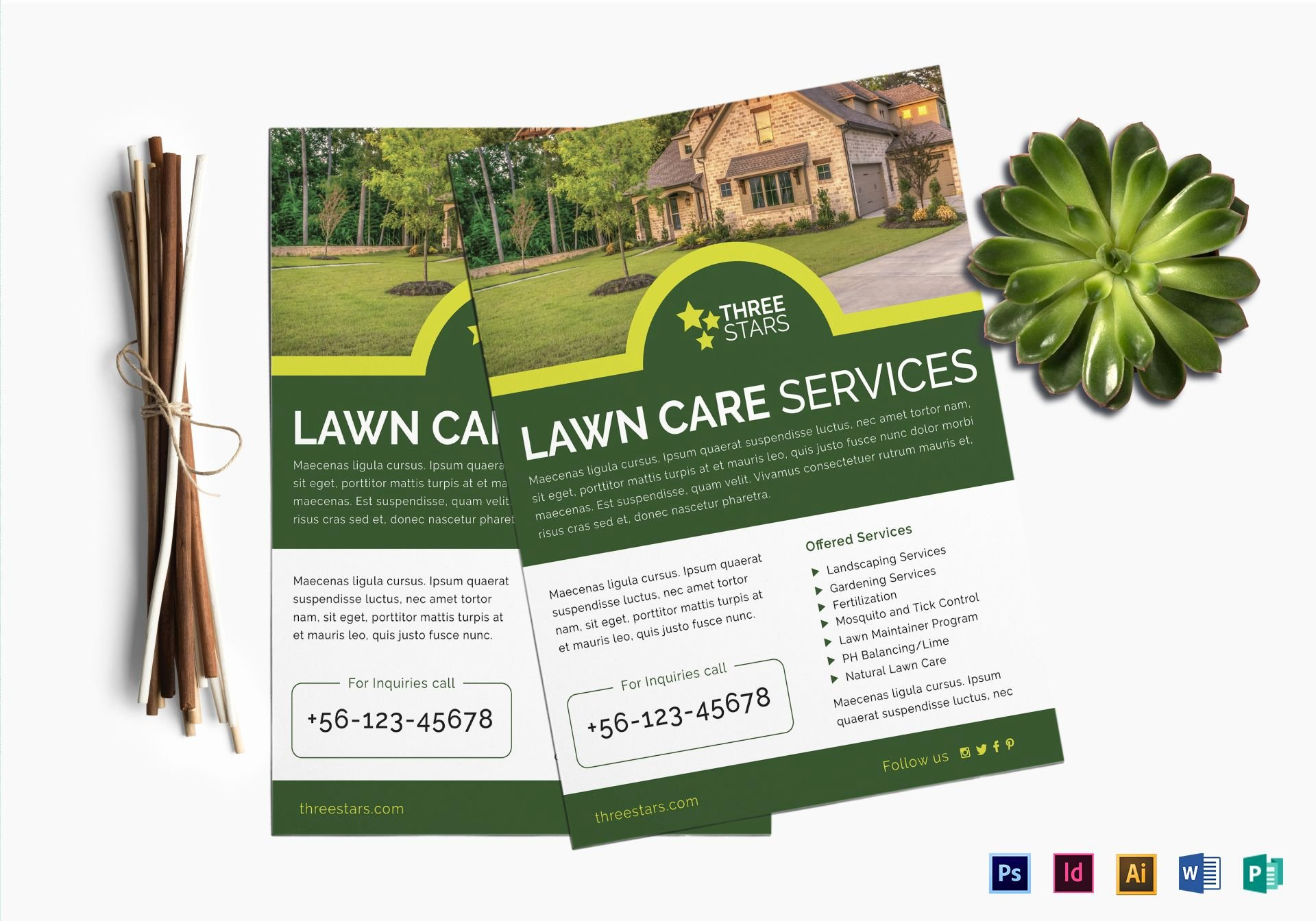 Lawn Mower Flyer Template Fresh Lawn Care Flyer Design Template In Psd Word Publisher Illustrator Indesign