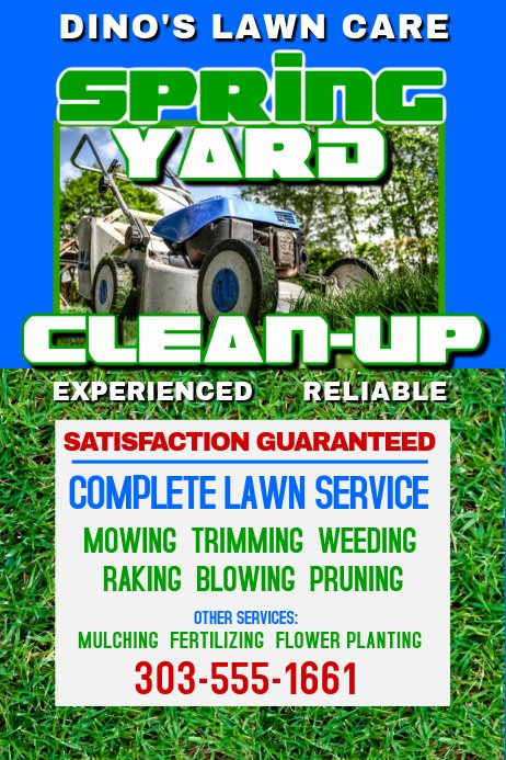 Lawn Mower Flyer Template Fresh Lawn Services Template