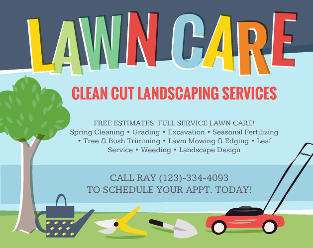 Lawn Mower Flyer Template Inspirational Lawn Care Flyers – Should You Use them the Lawn solutions