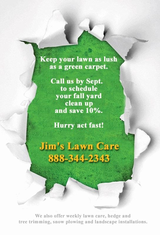 Lawn Mower Flyer Template New Flyer Ideas Jim S Lawn Care Flyer Ideas Pinterest