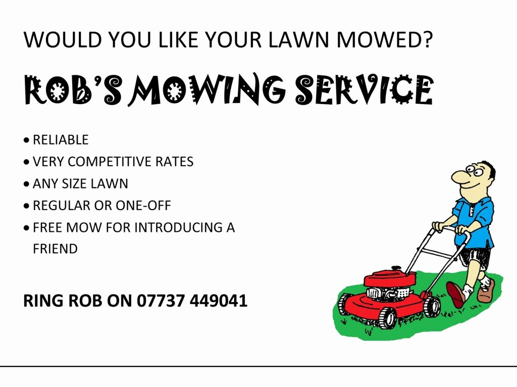 Lawn Mower Flyers Templates Awesome Lawn Care Flyer Template