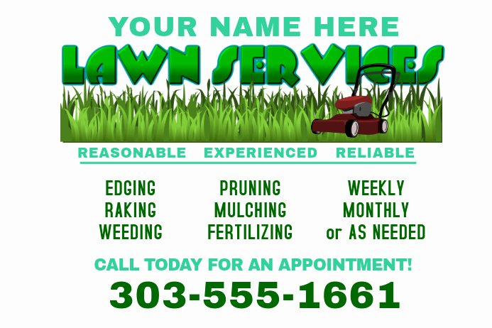 Lawn Mower Flyers Templates Best Of Copy Of Lawn Service