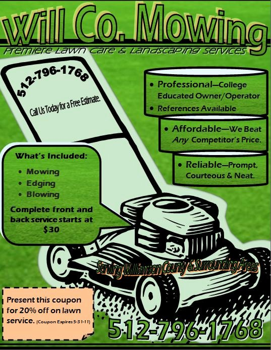 Lawn Mower Flyers Templates Elegant Will Co Mowing