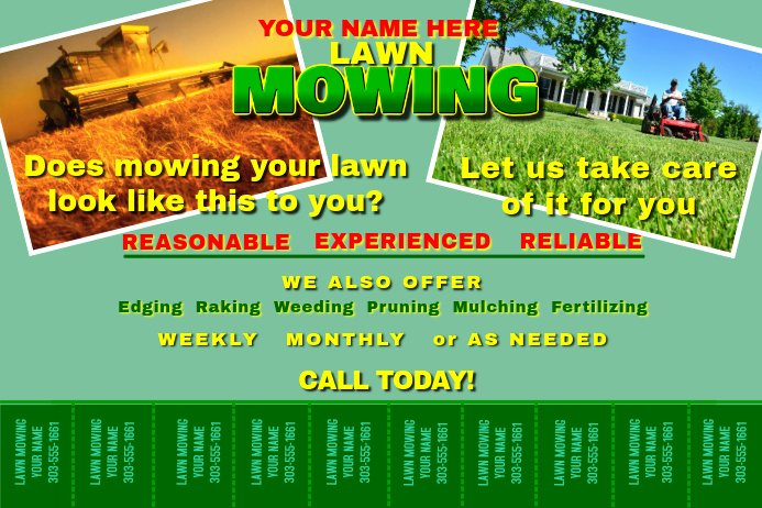 Lawn Mower Flyers Templates Fresh Lawn Mowing Template