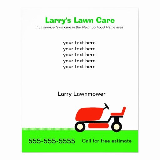 Lawn Mower Flyers Templates Inspirational Lawn Care Services Flyer Design