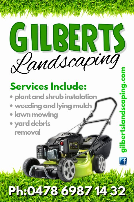 Lawn Mower Flyers Templates Lovely Landscaping Poster Template