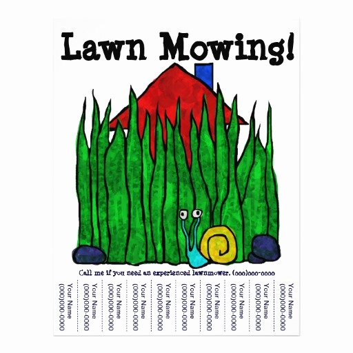 Lawn Mower Flyers Templates Lovely Lawn Mowing Flyer